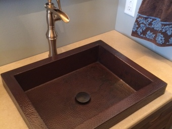 Hammered Copper Sinks