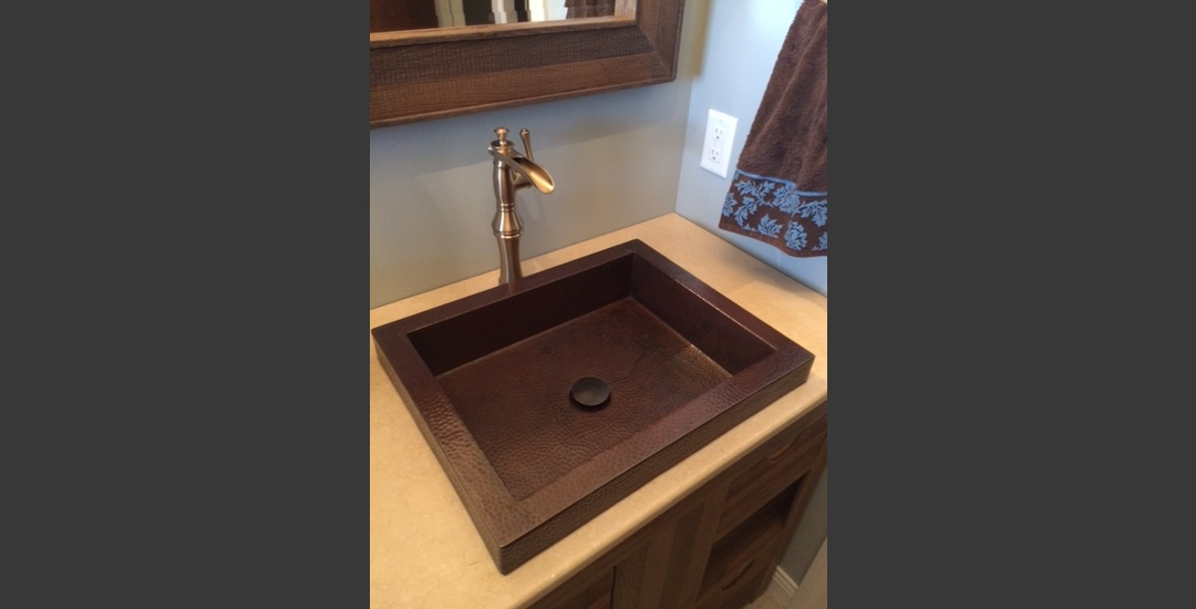 Drop-In Copper Lav Sink